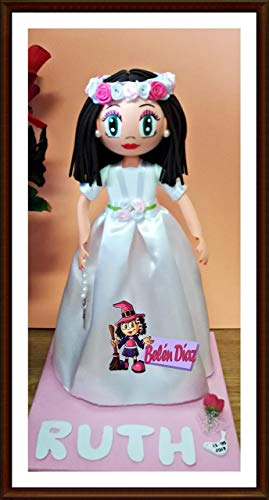 Fofucha Comunión niña muñeca artesanal 35 cms.