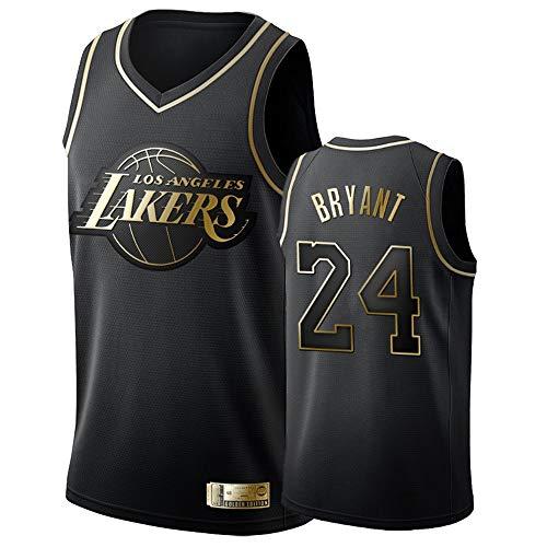 Los Angeles Lakers 24# Bryant Jersey Herren-Basketball-Trikot Herren-Fans Unisex-Basketballtraining Atmungsaktiv Weste