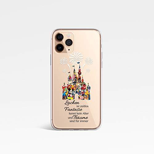 SmartGiftShop Disney-Stil Charakter Fan Art KLAR Silicone handyhülle Telefonhülle für iPhone XR - Disney Castle Quotation
