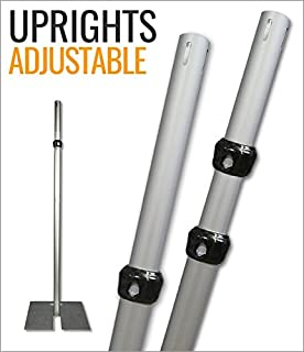 Adjustable Uprights for Pipe and Drape Systems (7-12 FT)