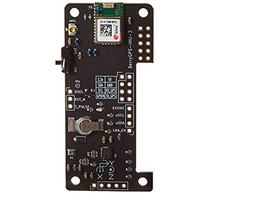 BerryGPS-IMUv3 - GPS and 10DOF for The Raspberry Pi - Accelerometer, Gyroscope, Magnetometer and Barometric/Altitude Sensor