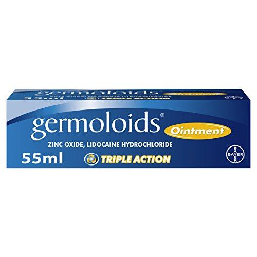 Germoloids Hemorrhoid Treatment & Piles Treatment Ointment, Triple Action...
