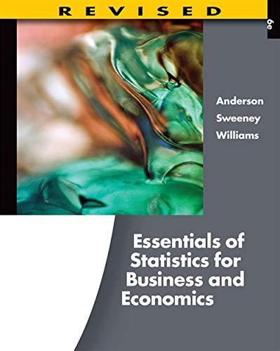 Essentials of Statistics for Business and Economics,...