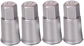 BBS ventieldoppen set zilver verchroomd = 4 stuks = pin voor rubberen ventiel