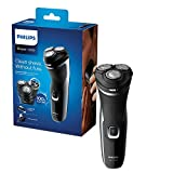 Philips New Series 1000 Dry Electric Shaver with PowerCut Blades & Pop-Up Trimmer, Shinny Black – S1332/41