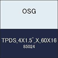 OSG テーパーエンドミル TPDS_4X1.5゚_X_60X16 商品番号 85024