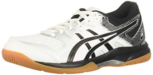 ASICS Women's Gel-Rocket 9 Volleyball Shoes, 7M, White/Black