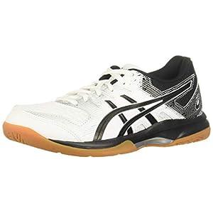 ASICS Women's Gel-Rocket 9 Volleyball Shoes, 8.5, White/Black
