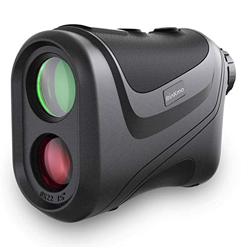 RINKMO Hunting/Golf Rangefinder 1100 Yards, with Slope1000 Meters Super Long Range,Laser Binoculars for Golfers Target Shooting 6X Magnification with FMC Lens,Distance/Angle