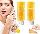 DASFF Whitening Hand Cream 24K Gold Honey Peel Off Hand Wax Rejuvenation Moisturizing Exfoliating Whitening Hand Peeling Mask Hand Wax Hands Care,Gentle Hand Moisturizing Hand Wax for Women (30ml)