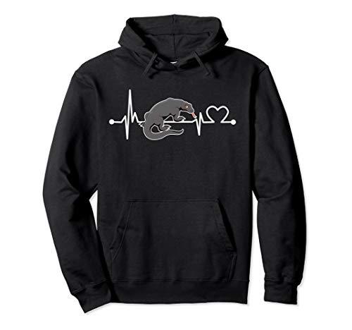 Komodo-Drache Herzschlag Hemd Tier für Kind/Frauen/Männer Pullover Hoodie