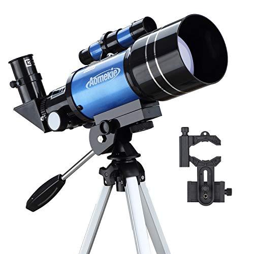 Aomekie Astronomisches Teleskop Kinder Einsteiger 70MM Telescope Astronomy mit Smartphone Adapter Aluminium Stativ Barlow und Umkehrlinse