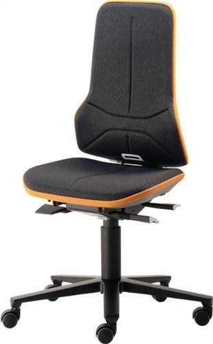 BIMOS Arbeitsdrehstuhl Neon m.Rollen blau Sitz-H.450-620mm Permanentkontakt (9563-9999-3277)