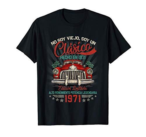 Hombre Regalo de Cumpleaños 50 Años, Clásico Hecho En 1971 Camiseta