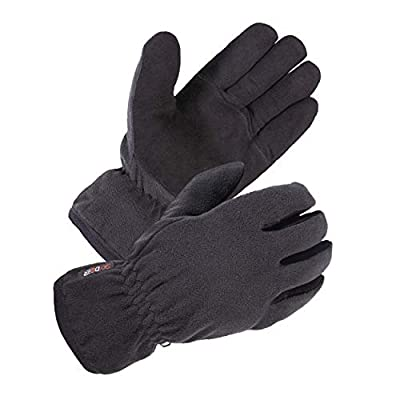 SKYDEER Winter Gloves with Premium Genuine Deerskin Suede Leather and Windproof Polar Fleece (Unisex SD8661T/L, Warm 3M Thinsulate Insulation)