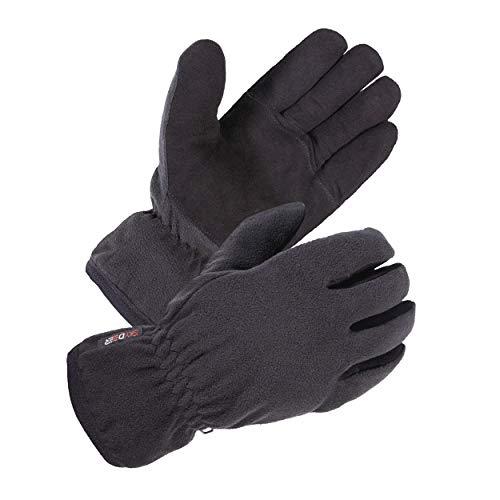 SKYDEER Winter Gloves with Premium Genuine Deerskin Suede Leather and Windproof Polar Fleece (Unisex SD8661T XL, Warm 3M Thinsulate Insulation)