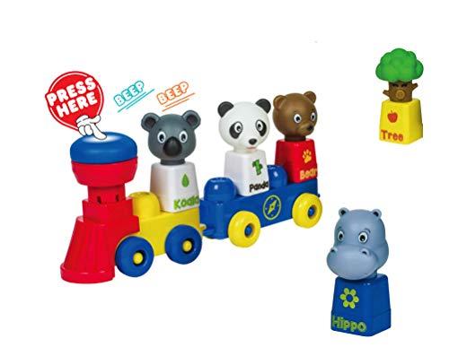 Tutor Blocks Meine ersten Magnetbausteine Serie 201 Safari Abenteuer Kleinkind Lernbausteine Babyspielzeug Motorikspielzeug ab 6 Monate
