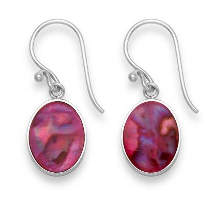 Sterling-Silber-Seeohr-Ohrringe–Rosa –Größe: 10mm x 12mm, 7850PK,  Lieferung in kostenloser Geschenkschatulle