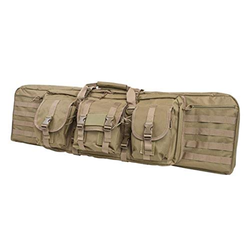 Nc Star Double Carbine Case, Brown/Tan, Large/42'