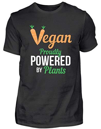 Generieke vegan Proudly Powered by Plants Vegetarisch dierliefde - eenvoudig en grappig design - herenshirt