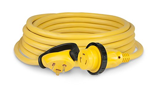 ParkPower 30 Amp 125V 25 Foot Swivel Handle Yellow RV Power Cord