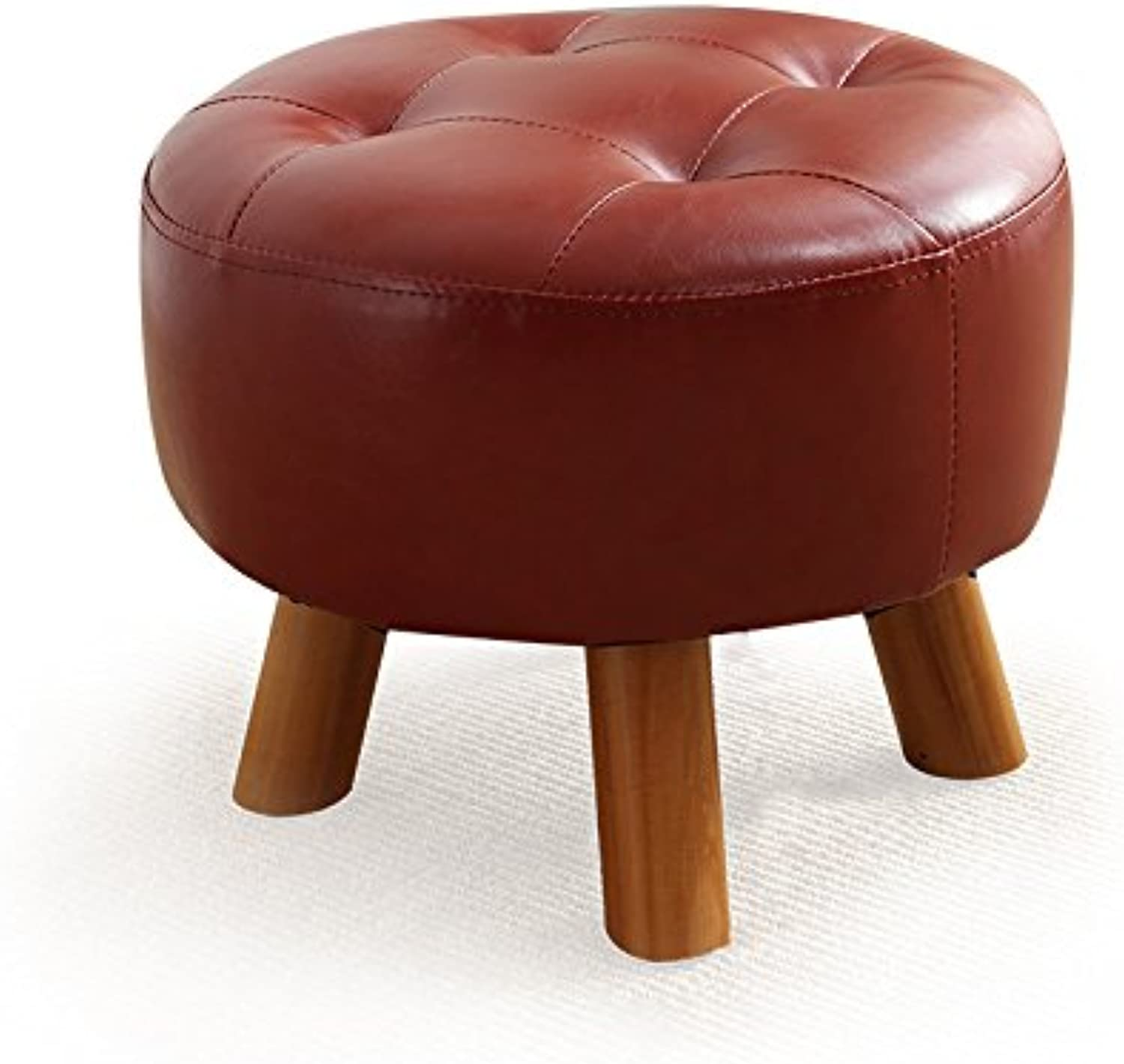 Solid Wood shoes Bench Creative Sofa Stool Fabric Stool Home Stool Leather Stool Makeup Stool Fashion Stool 0522A (color   Red)