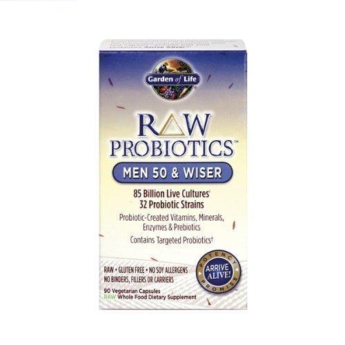 Garden of Life - RAW Probiotics Men 50 & Wiser - 90 Vegetarian Capsules by Garden of Life