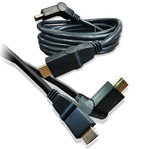 1M HDMI Kabelschwenkkopf Kabelverbinder (180-Grad-) für 3D HD TV, PS4, PS3, Xbox One, 360 LED, Halterungen 4k TV High-Speed-Ethernet- 1080p / 1 Meter/iCHOOSE