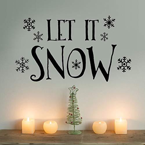 Tianpengyuanshuai muurstickers, vinyl, sneeuwvlokken, winter, ramen, glas, decoratie voor vakantie, slaapkamer, klaslokaal, muurverf, afneembaar