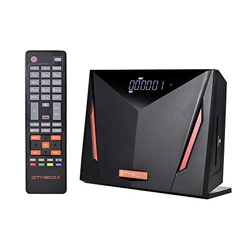 GTMEDIA V8 UHD 4K Ultra HD Digital Satellite Receiver, FTA H.265 TV Sat Decoder DVB-S/S2/S2X+T/T2/Cable/ISDB-T/ATSC-C, Built-in 2.4G WiFi, Supports CA Smart Card, Biss Auto-roll