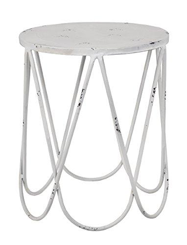 Haku Möbel 28310 Beistelltisch, Metall, antikweiß, 49 x 41 x 45 cm