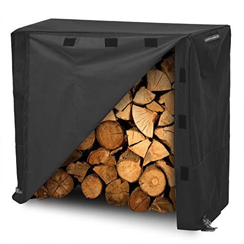 Our #1 Pick is the Songmics Heavy Duty Log Rack Cover Waterproof Firewood Cover