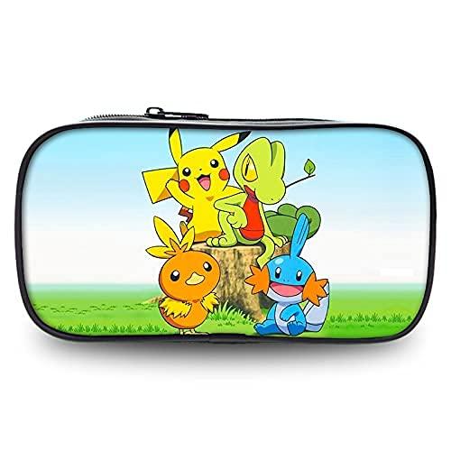 Pokemon Plumieres/Estuches Anime Infantil Jóvenes Pikachu Caja de Lápices Niña Pikachu Teenager Schulmaeppchen Bleistiftkoffer Bleistiftbeute Pokemon Manga Estuche - 23, OneSize