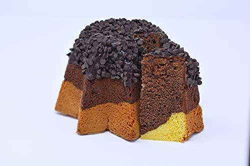 Belli Freschi - Torta di Natale con Glassa al Cacao Senza Glutine e Senza Lattosio - 450g