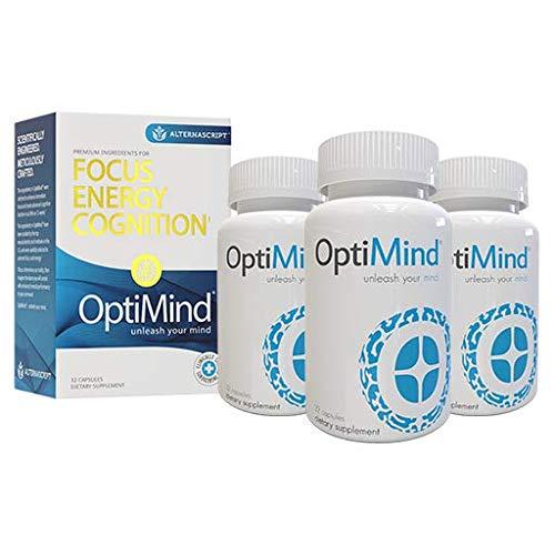 OptiMind Alternascript, Nootropic Brain Booster Supplement, Enhance Focus and Energy (3)
