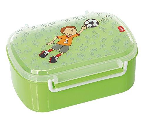 SIGIKID Mädchen und Jungen, Kinder Brotdose mit buntem Druck, Lunchbox Kily Keeper für Kindergarten, Schule & Ausflüge, BPA-frei, empfohlen ab 2 Jahren, grün, 24781