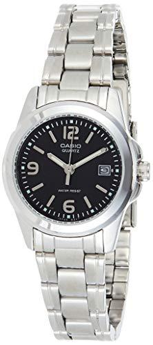 Casio LTP-1215A-1A LTP1215A-1A - Reloj para Mujeres, Correa de Acero Inoxidable Color Plateado