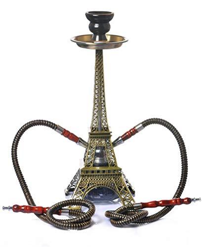 MIYVQD Shisha Paris Turm Shisha 2 U-Set Hookahs Oriental Dekorative Pfeife Cafe Stil
