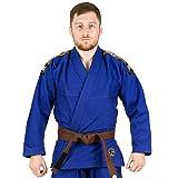 Nova Absolute BJJ Gi Herren – Pearl Woven Cotton Brazilian Jiu-Jitsu Gi Uniform Competition IBJJF Standard Approved with Belt Included – Leichte und robuste Hose und Jacke, blau, A2XL
