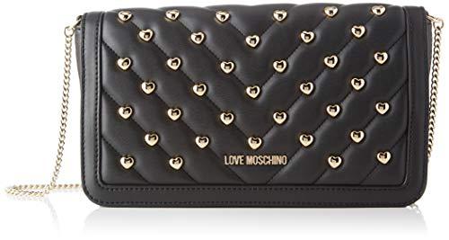 Love Moschino Jc4237pp0a, Pochette da Giorno Donna, Nero (Black Matt), 6x14.5x26 cm (W x H x L)