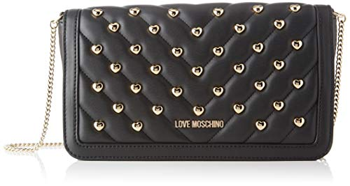 Love Moschino Damen Jc4237pp0a Clutch, Schwarz (Black Matt), 6x14.5x26 Centimeters
