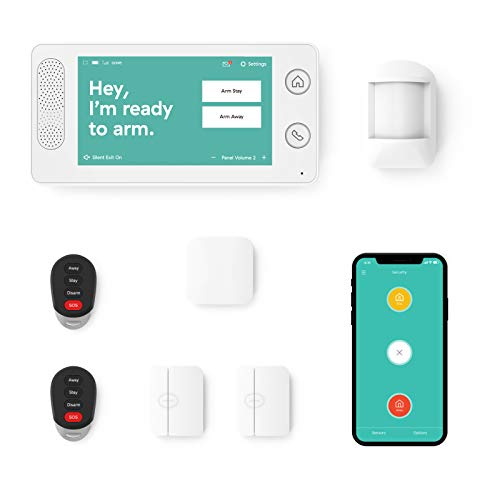 Home Security System by Cove - 7 Piece System with 24/7 Professional Monitoring Trial, No Contracts,...