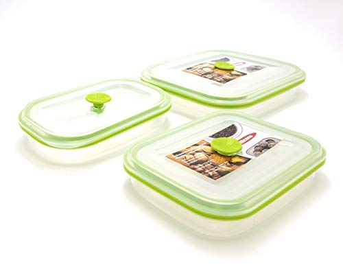 eeZe Life SCFC1-2pcs 100% Pure Silicon collapsible Food container LFGB Food Grade (2-pcs Round)