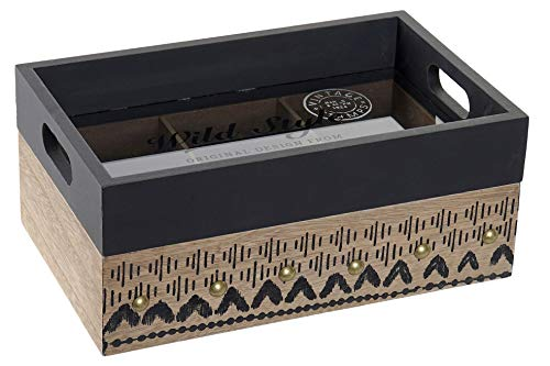 Space Home - Caja para Bolsitas de Te con Bandeja - Caja para Infusiones - Almacenaje de Cocina - 6 Compartimentos - 24 x 15 x 10 cm