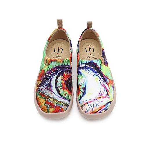 UIN Mocasín de Mujer Ponerse Slip-on Planos de Deslizamiento Mocasines de Conducción Mocasín Zapatillas Comodos de Zapatos Ojo 42