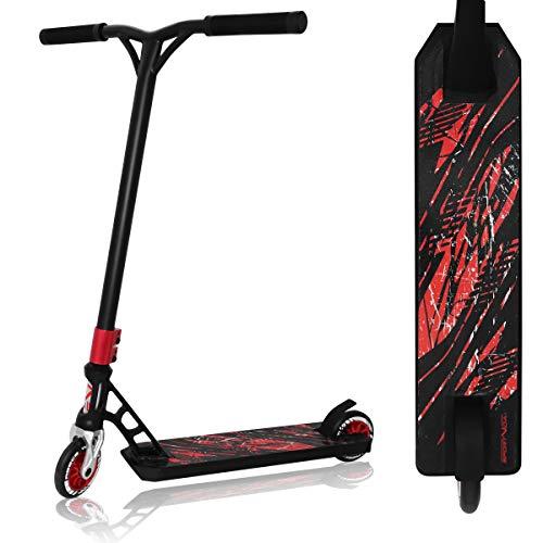 SportVida Patinete para niños a partir de 6 años, ruedas de caucho, 100 mm - 110 mm, color negro