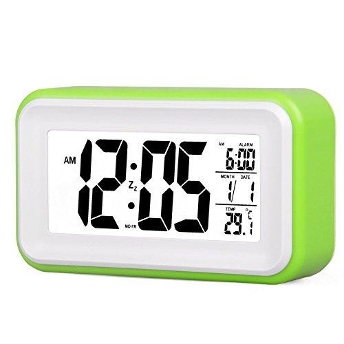 LTOOD Reloj Despertador electrónico Reloj de cabecera Estudiante ...