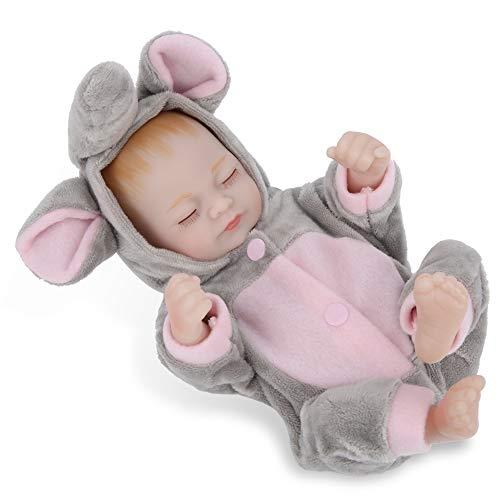 Mädchenpuppenspielzeug, Mini-Babypuppe, Silikonkörper für Weihnachtsgeschenke Geburtstagsgeschenke(Ashes, doll)