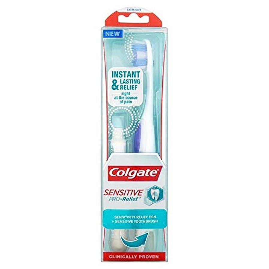 チェリー歴史的火山の[Colgate ] コルゲート敏感プロリリーフ歯ブラシ+感度リリーフペン - Colgate Sensitive Pro-Relief Toothbrush + Sensitivity Relief Pen [並行輸入品]