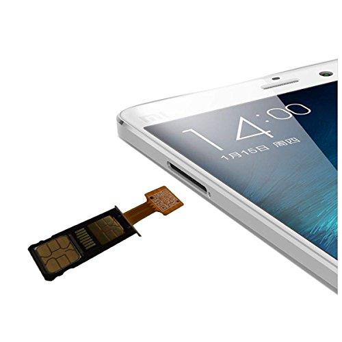 Micro-SD-Adapter für Dual-SIM-Karte für Android - Extender, Nano-SIM, Micro-SIM, Mini-SIM - Adapter für Xiaomi Redmi Note 3, 4, 3s, PRO Max und Samsung Huawei Smartphones (Nano Sim)
